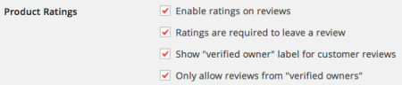 WooCommerce Product Review Settings