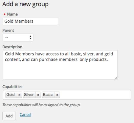 Create a membership group