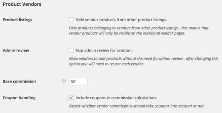 WooCommerce Product Vendors Settings