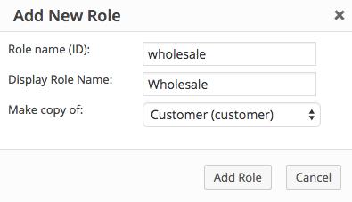 WooCommerce wholesale role