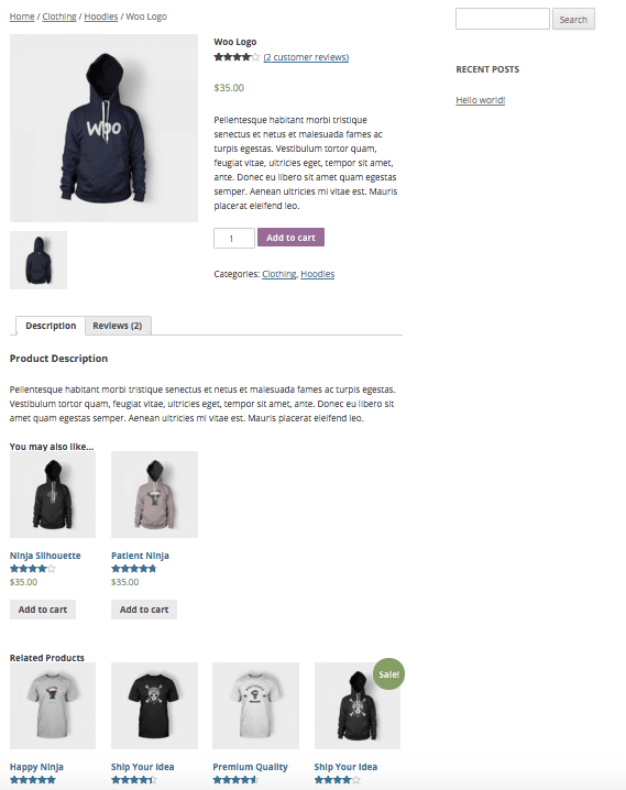 WooCommerce Related Products regular display