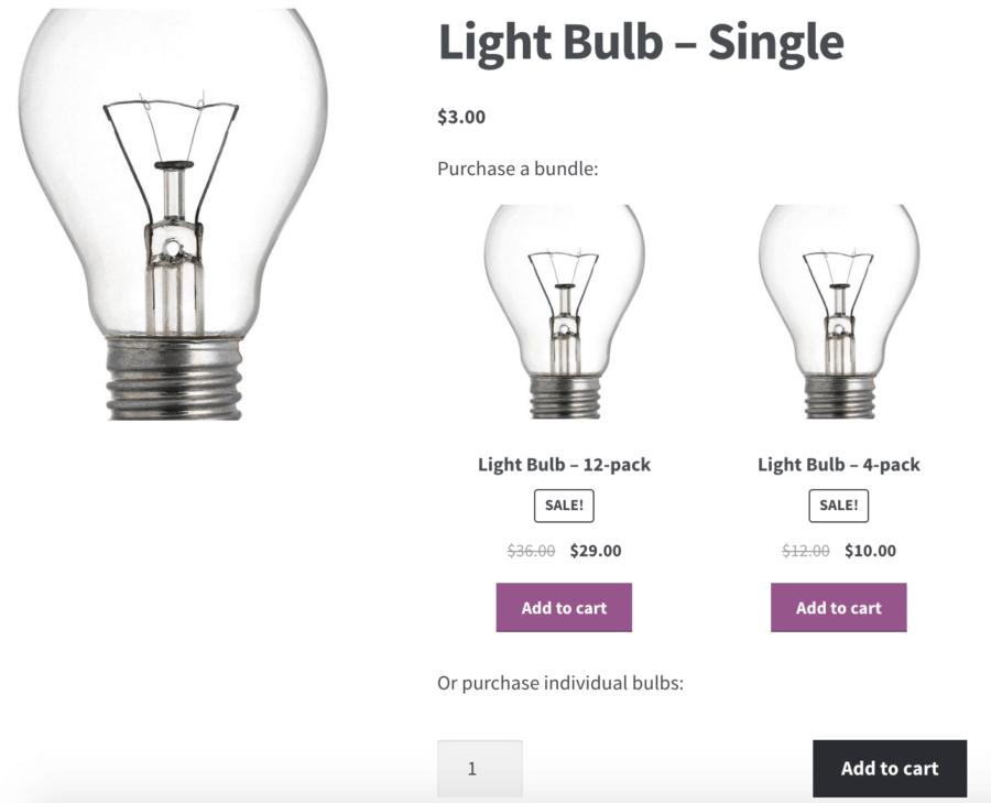 WooCommerce Product Bundles: cross promotion