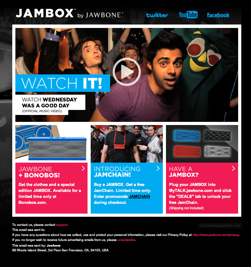 Jambox's embedded video