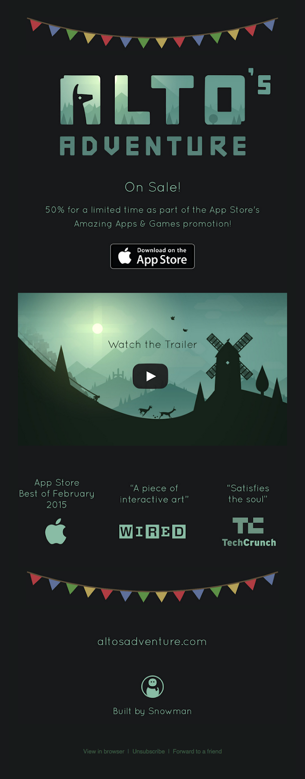 Alto's Adventure uses a video screengrab.