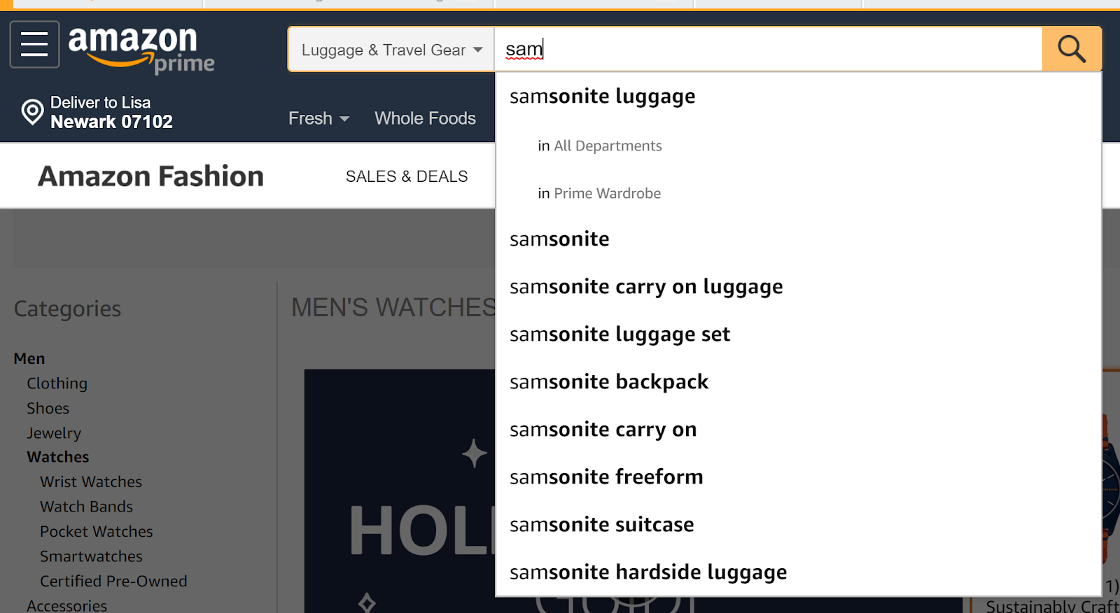 Amazon's eCommerce keywords.