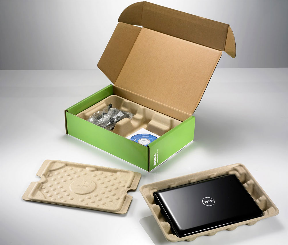 Dell's compostable packaging.
