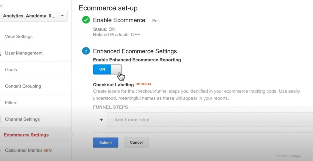 How to enable Enhanced eCommerce.