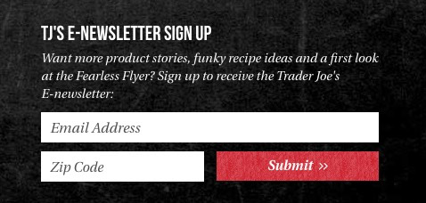 A subscription form for people who love the brand.
