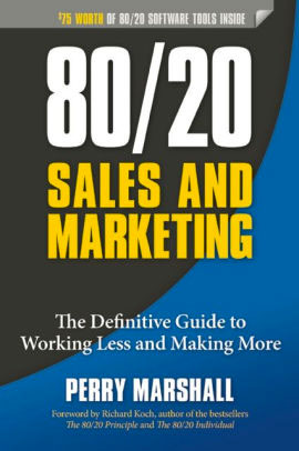 80/20 Sales and Marketing book cover.