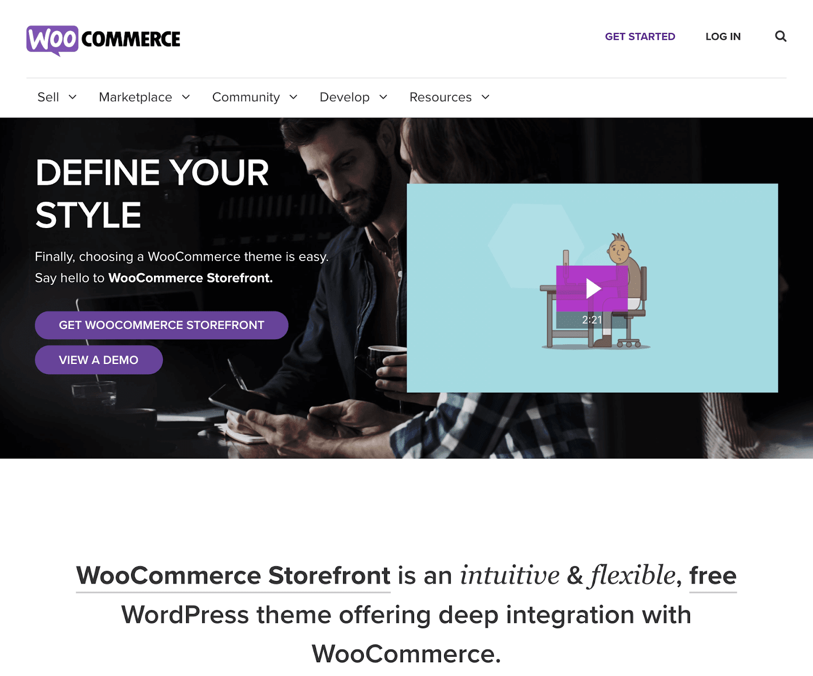 The WooCommerce storefront theme.